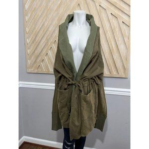 Fate by LFD Green Open Front Hooded Jacket